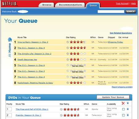 Netflix Queue Redesign